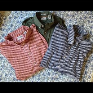 Lot of 3 Dockers button down shirts, mens L